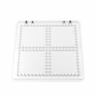 Acryl Baseplate 200x200x10mm (M4) - Cross Pattern